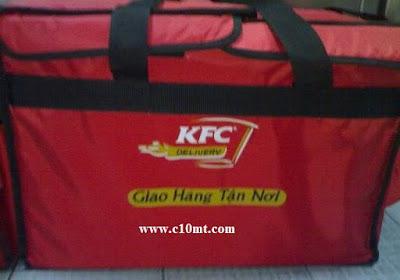 KFC trăn trở với Túi Giao Hàng