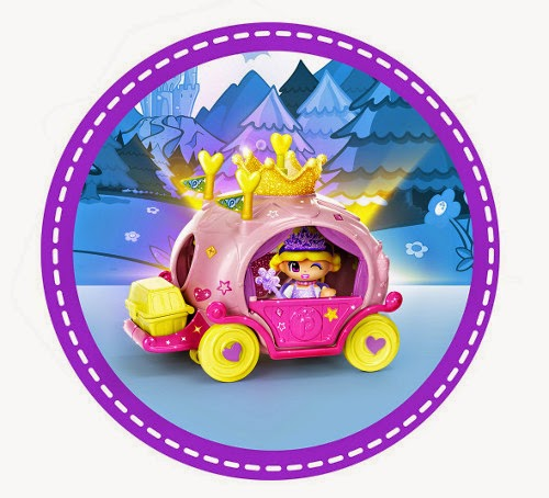 TOYS : JUGUETES - PINYPON - Carroza con princesa  Producto Oficial | Famosa 700011165 | A partir de 4 años