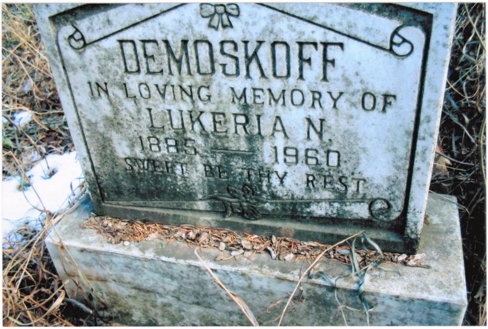 Luchenia Demoskoff gravemarker