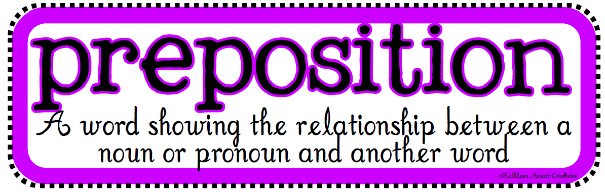 The Examples of Prepositions