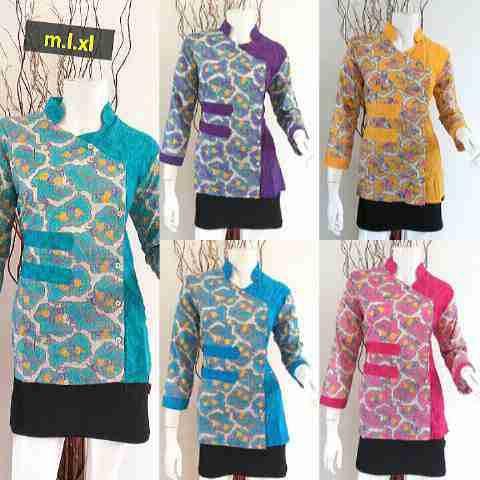 Baju Batik Blus Atasan Wanita Model Trendy - Baju Batik Modern Dan ...