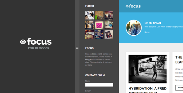 Focus Grid-based Responsive Blogger Template