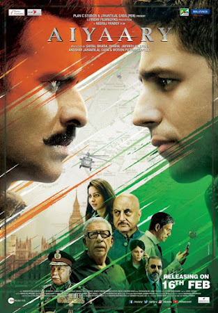 Poster Of Hindi Movie Aiyaary 2018 Full HD Movie Free Download 720P Watch Online