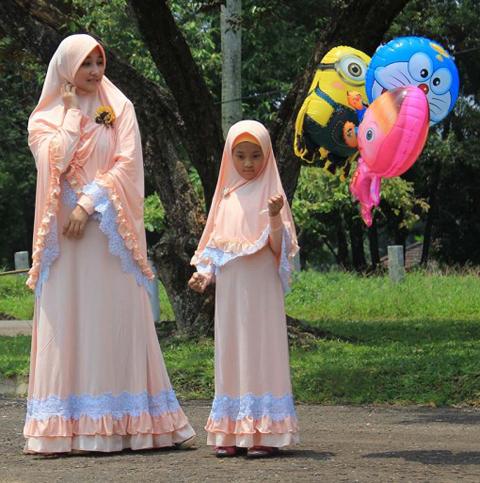 model baju gamis ibu dan anak
