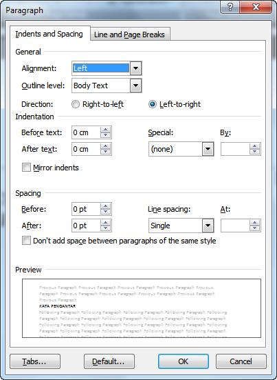 Mengetik Daftar Isi (Microsoft Word 2007,2010) | Nurul