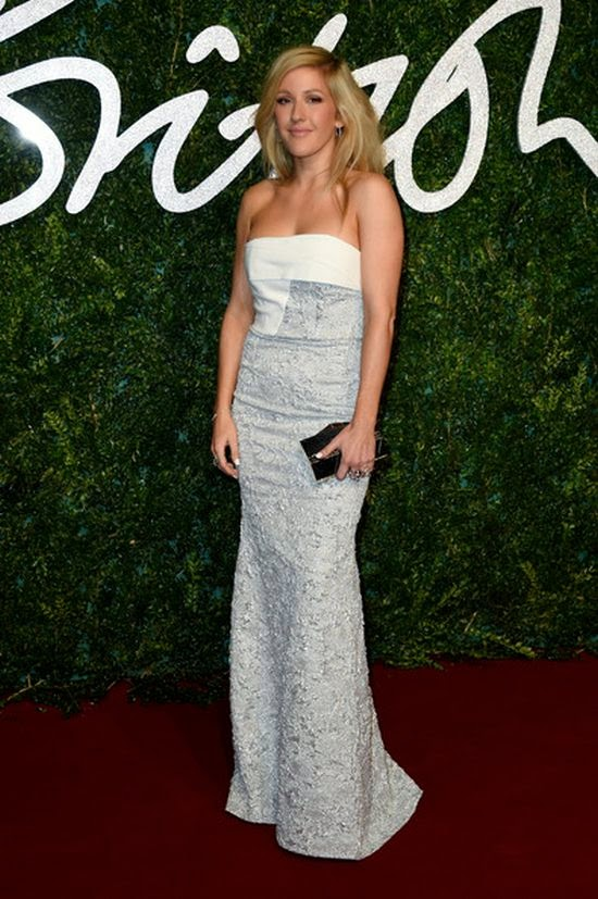 With her enviable blue strapless dress and glossy blonde hair, all eyes were on Ellie Gulding at London, England on Monday, December 1, 2014.  The singer arrived to the British Fashion Award as she gracing the red carpet with no missing to the fabulous.