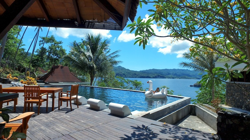 Lembeh Hills Resort infinity pool
