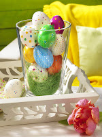 Шарени яйца великденска украса за дома