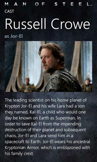Man of Steel:  fichas de personajes