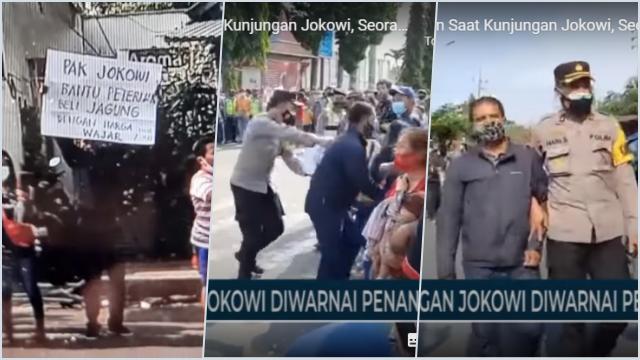 Bentangkan Poster Minta Bantuan Saat Kunjungan Jokowi, Warga Blitar Ditangkap!
