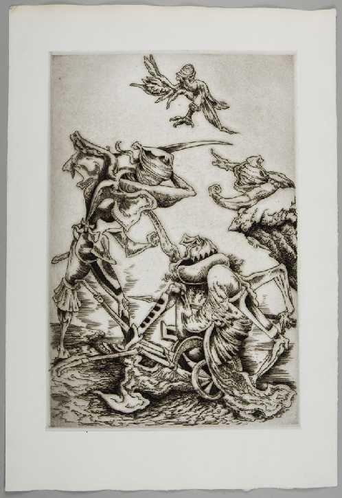 Η σφαγή του Λάιου. Seligmann, Kurt, plate IIΙ, 1944 Harvard Art Museums, M14974