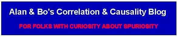 Alan & Bo's Correlation & Causality Blog