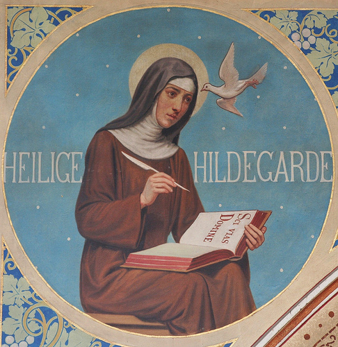 a biography of saint hildegard a german saint Hildegard of bingen was born in 1098, to a family of minor german nobility as the tenth child, she was dedicated to the church, and sent to an anchoress, jutta, for.