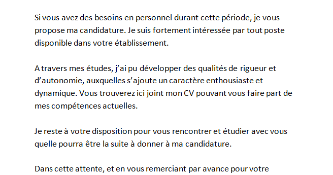 lettre de motivation job etudiant mac do