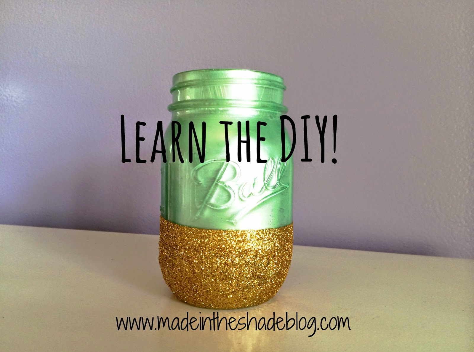 DIY Mason Jar with Glitter and Paint