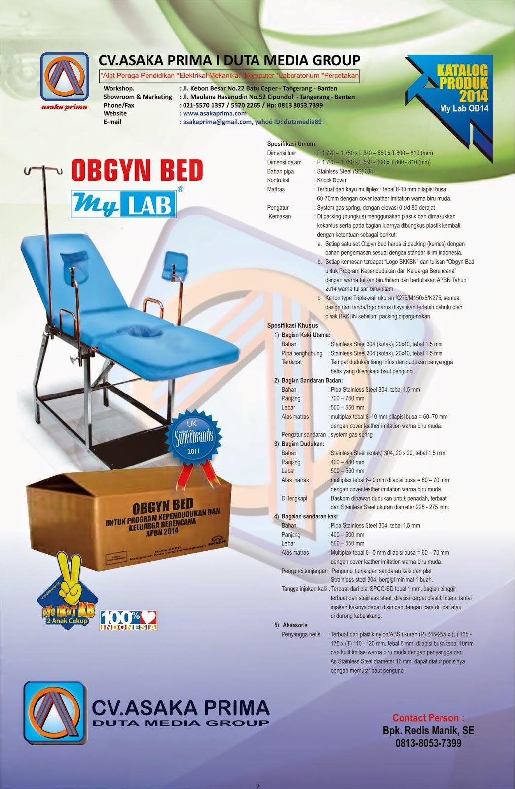 OBGYN BED dak BKKBN 2014~ Rab obgyn bed bkkbn  2014