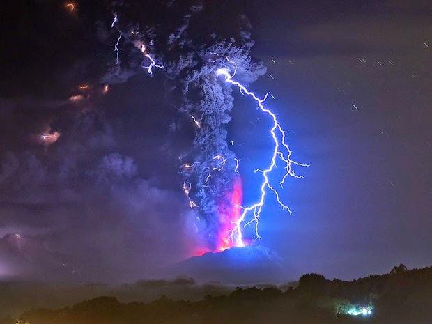 vulcão, os terremotos e a ação de guardiões e magos negros