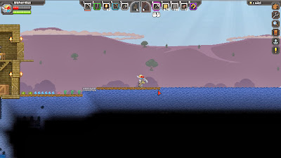 Вскапывание земли в Starbound
