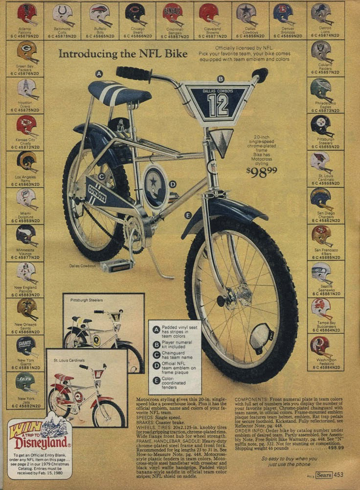 Circa 1977 sears mx pittsburgh steelers bike on display at if you were a kid in the 70s nothing beat the sears wishbook it contained all things desirable to a little kid when sears marketed the official nfl mx sciox Gallery