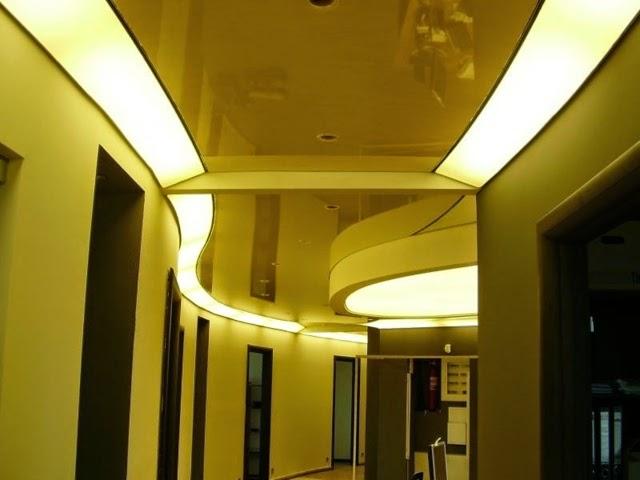 Cool modern false ceiling designs for living room 2018 for Living hall lighting design