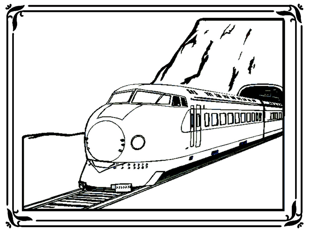 Modern Train Coloring Pages Realistic