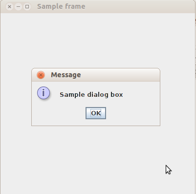 Dystopian Code: Creating a MessageBox / Message Dialog in Java Swing