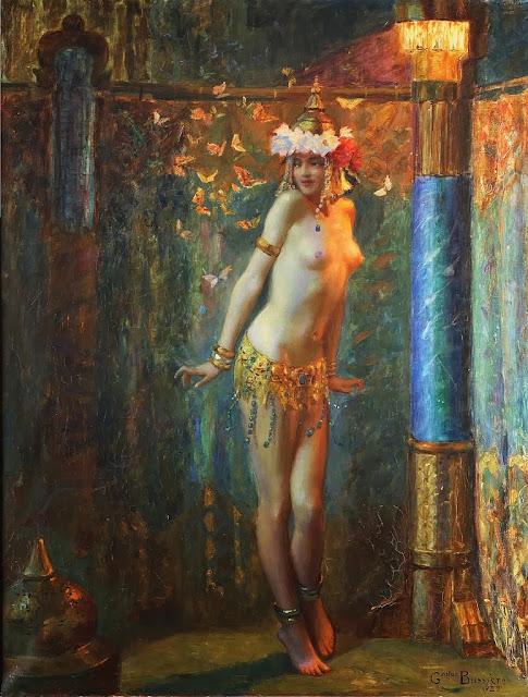 gaston bussiere,french symbolist,symbolist painting
