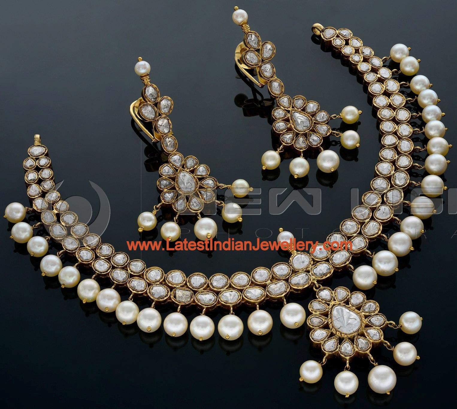 Lovely Polki Diamond Necklace set