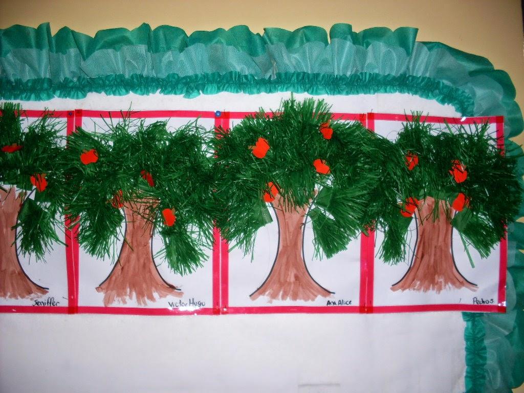 Atividades prontas para imprimir dia da rvore for Mural sobre o natal