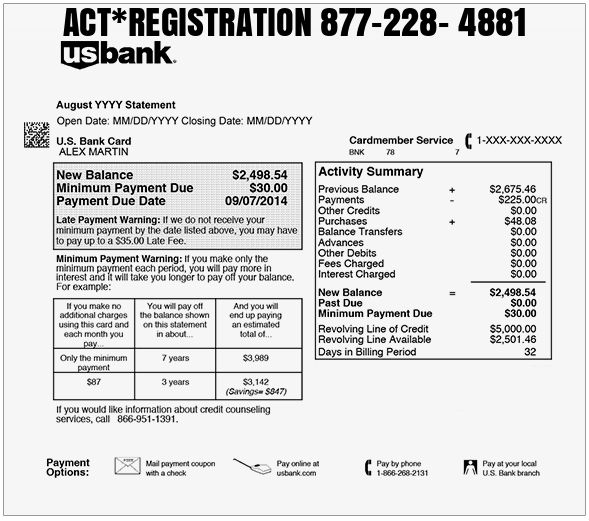 ACT Credit Or Debit Card Charge - What area code is 877 in usa