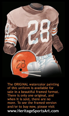 Cleveland Browns 1957 uniform