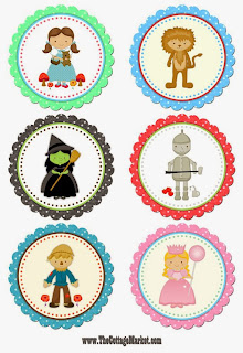 cupcake toppers wizard oz printable free