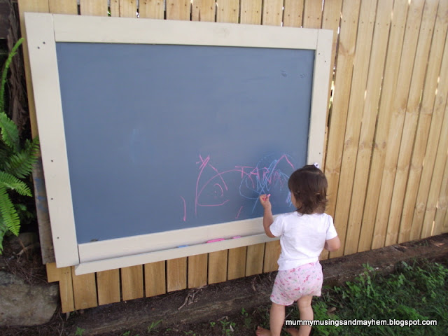 DIY Outdoor blackboard