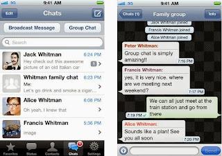 صورة من داخل البرنامج WhatsApp