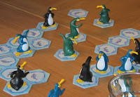 Hey! That's my fish - Some of the penguin figures and ice flow cards