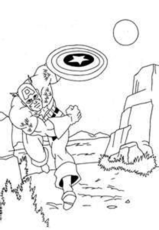 8 Free Cartoon Captain America Coloring Pages To Print