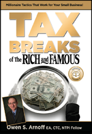 "Available now at <a href=""http://taxbreaksoftherichandfamous.com/"">TaxBreaksOfTheRichAndFamous.com</a>"
