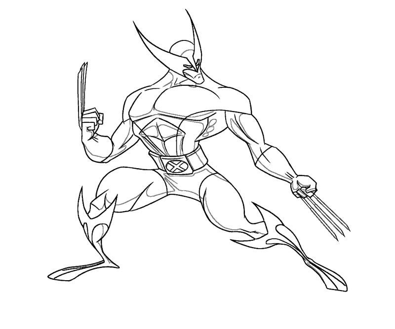 #6 Wolverine Coloring Page