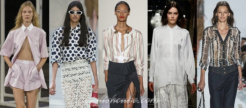 Spring Summer 2014 Women's Shirts Fashion Trends