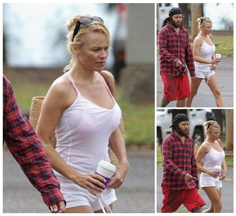 Yes! That's finally did because Pamela Anderson was kicked off her newest day by partaking stroll with husband, Rick Salomon at the beach in Hawaii on Friday, January 2, 2014.