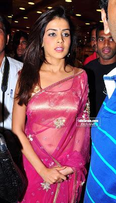 Genelia Hot In See Thru Saree