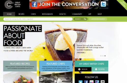 Website Great British Chefs