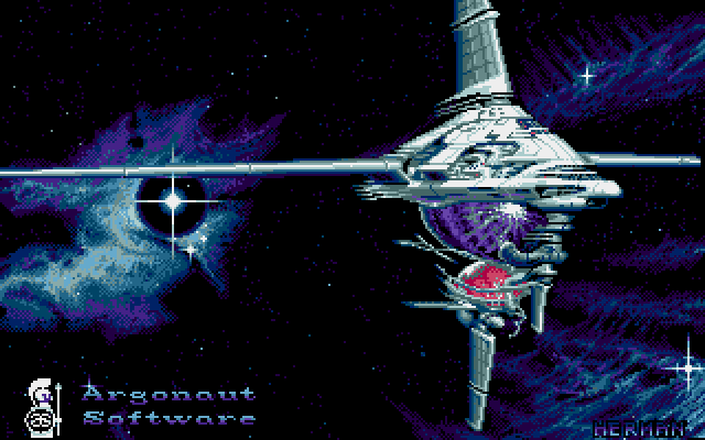 Starglider 2 title screen amiga
