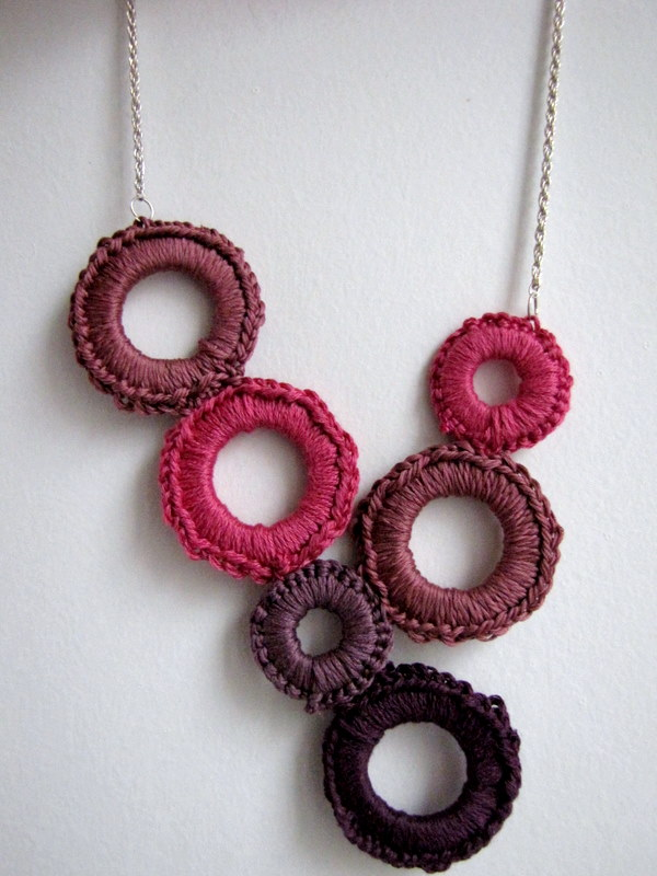 Free Crochet Ring Jewelry Patterns : Little Treasures: Crochet delight necklace tutorial