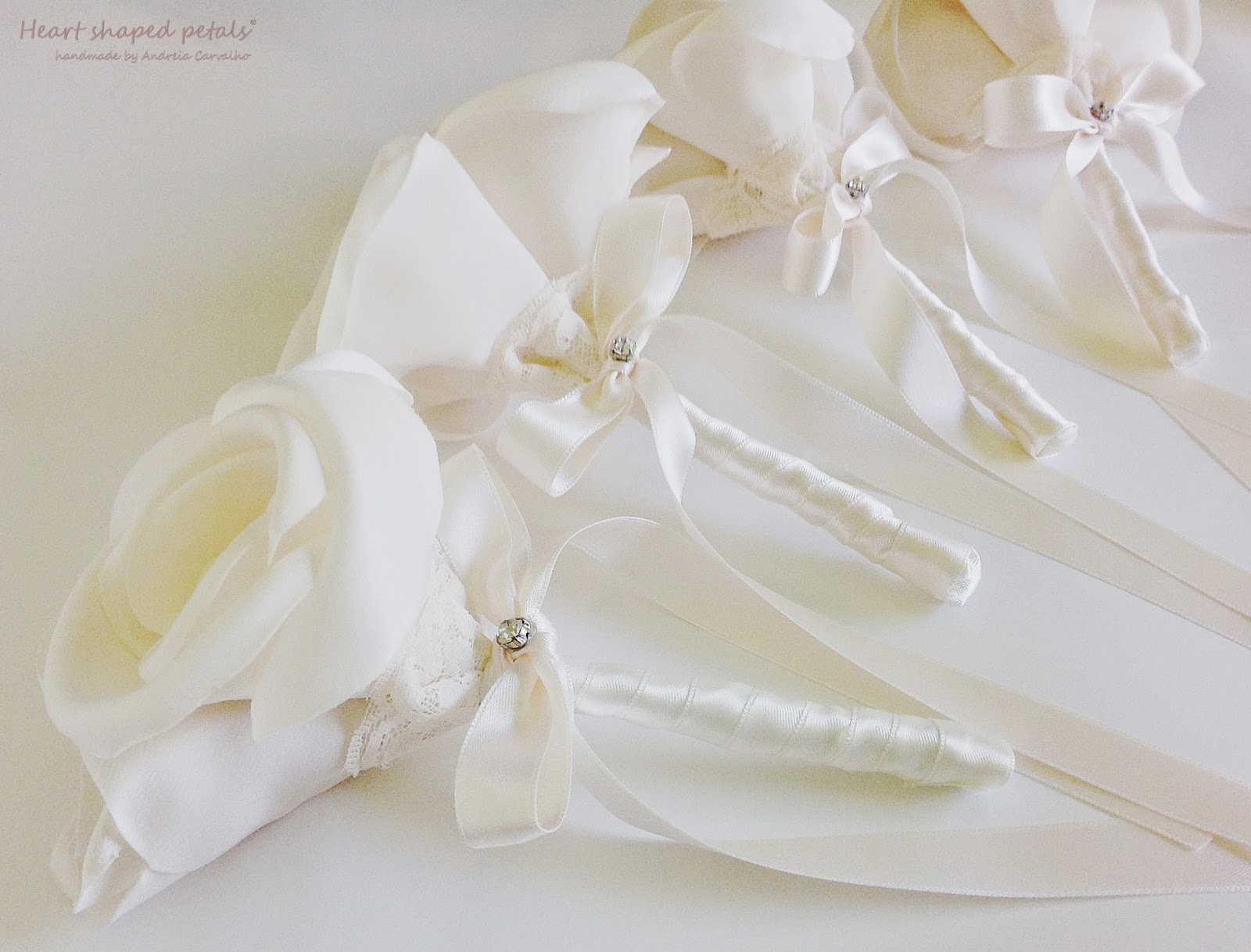 Bridesmaid rose bouquets