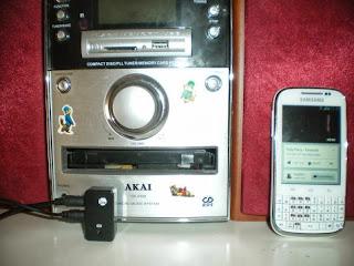 Minicadena conectada por bluetooth a un móvil