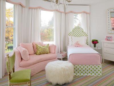 foto dormitorio juvenil rosa