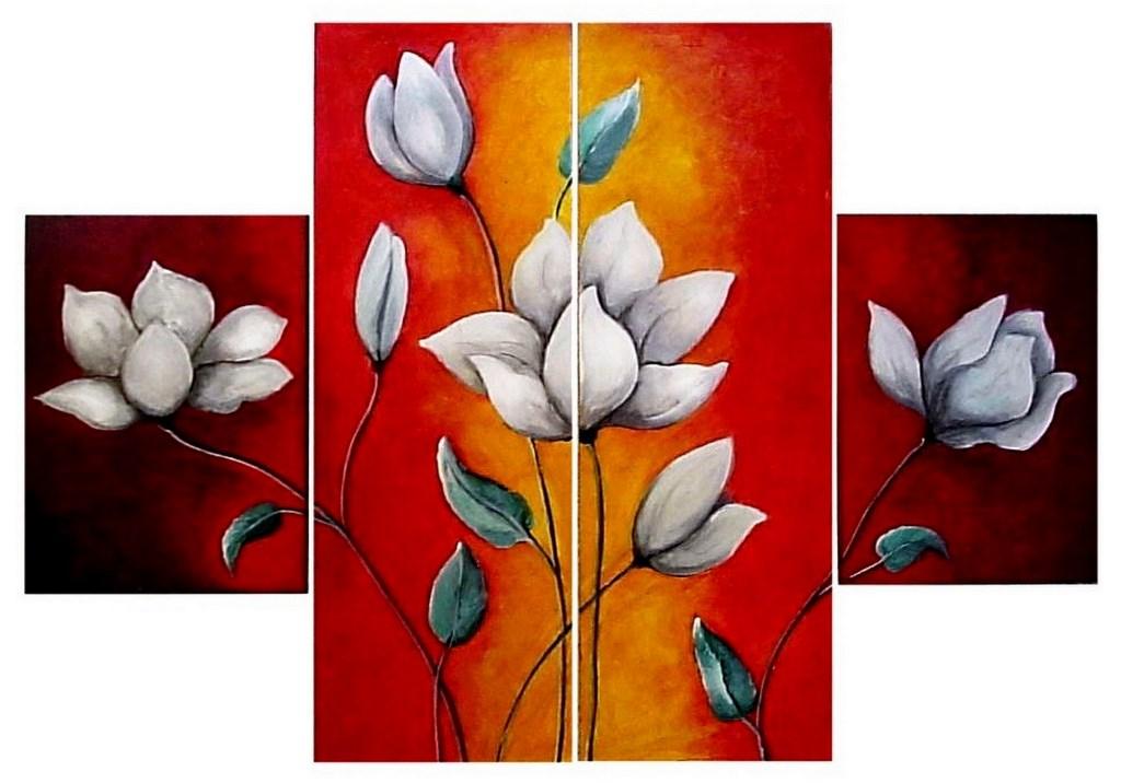 Cuadros modernos pinturas y dibujos cuadros de flores for Cuadros de oleo modernos