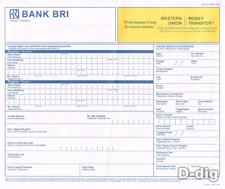 Cara Mengambil Uang Google Adsense melalui Western Union di BRI - Slip 1