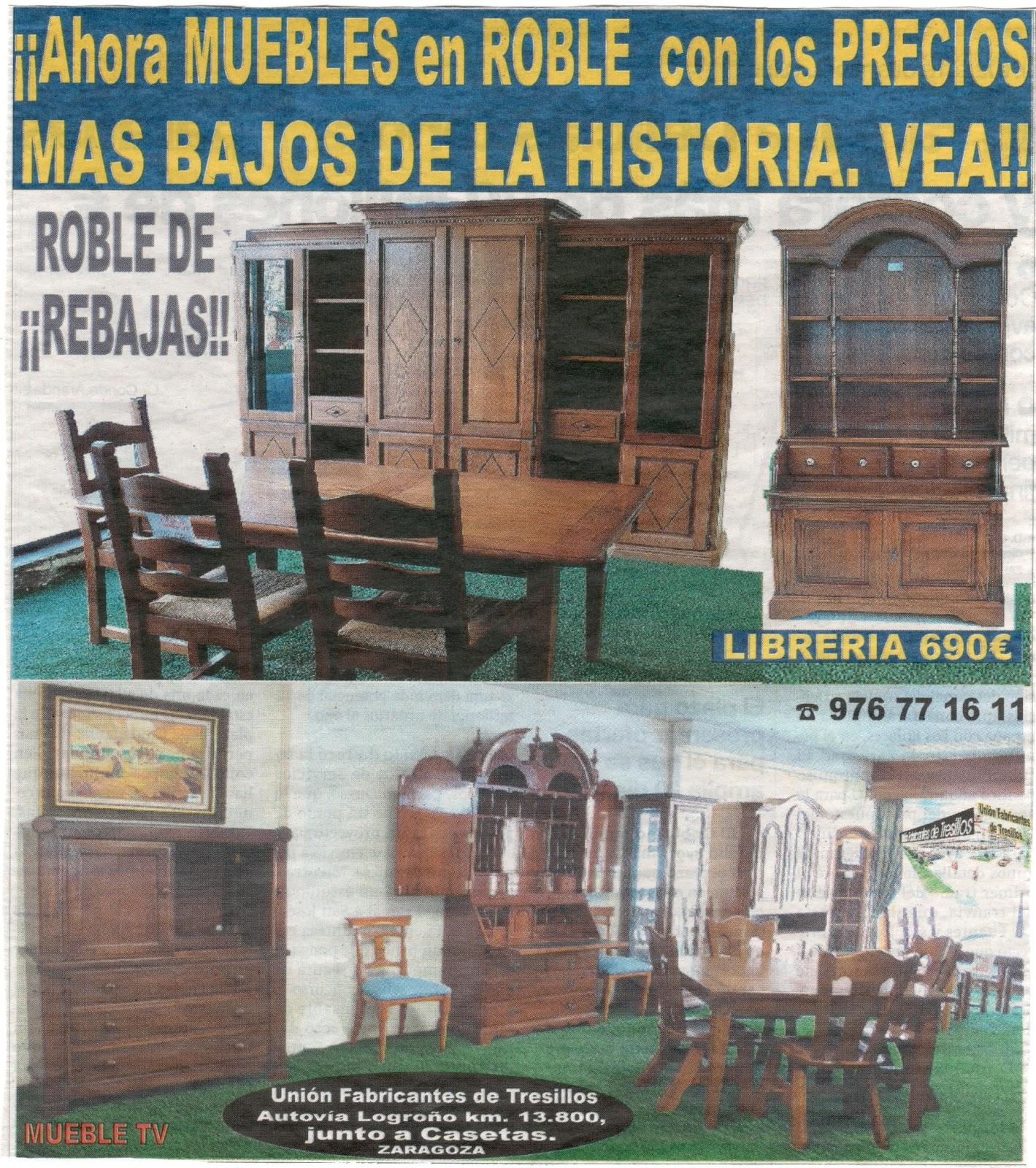 Uni n fabricantes de tresillos rebajas en muebles de - Muebles de roble macizo ...